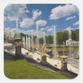 Saint Petersburg, Grand Cascade fountains 6 Square Sticker