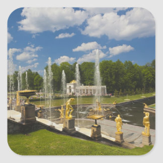 Saint Petersburg, Grand Cascade fountains 7 Square Sticker
