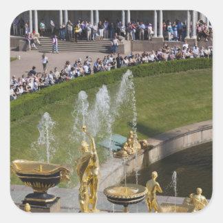 Saint Petersburg, Grand Cascade fountains 8 Square Sticker
