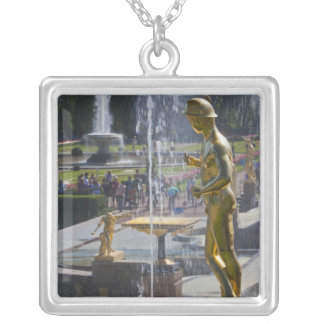 Saint Petersburg, Grand Cascade fountains 9 Silver Plated Necklace