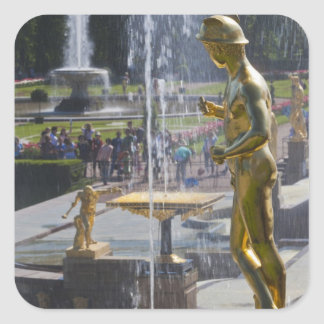Saint Petersburg, Grand Cascade fountains 9 Square Sticker