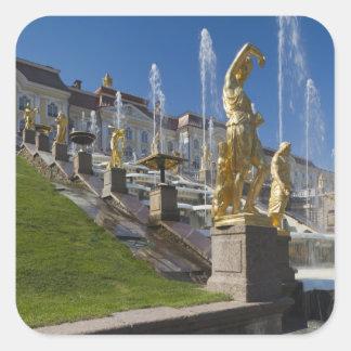 Saint Petersburg, Grand Cascade fountains Square Sticker