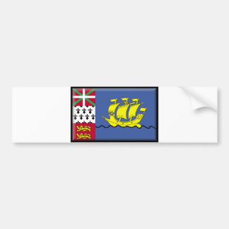 Saint Pierre and Miquelon Flag Bumper Sticker