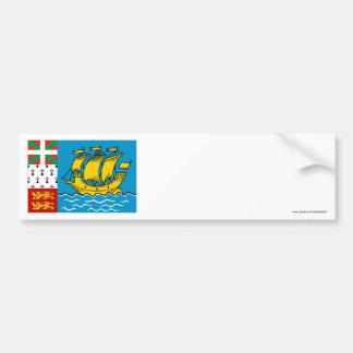 Saint-Pierre and Miquelon Flag Bumper Stickers