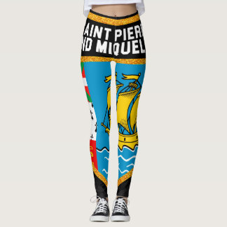 Saint Pierre And Miquelon Flag Leggings