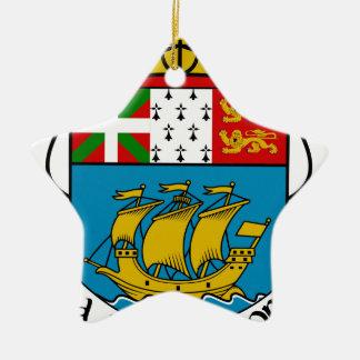 Saint Pierre and Miquelon (France) Coat of Arms Christmas Ornament
