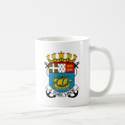 Saint Pierre and Miquelon (France) Coat of Arms Coffee Mugs