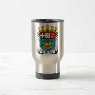 Saint Pierre and Miquelon (France) Coat of Arms Stainless Steel Travel Mug