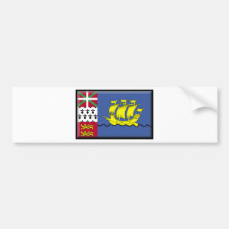 Saint Pierre and Miquelon (France) Flag Bumper Stickers