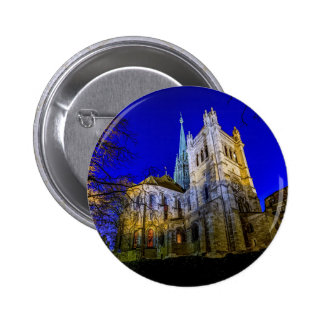 Saint-Pierre cathedral in Geneva, Switzerland 6 Cm Round Badge