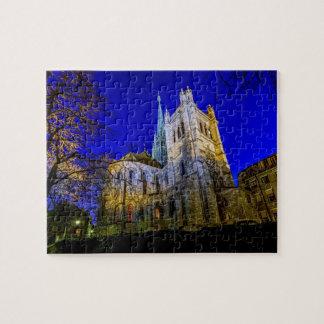 Saint-Pierre cathedral in Geneva, Switzerland Jigsaw Puzzle