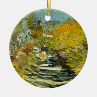 Saint-Remy by Vincent van Gogh Round Ceramic Decoration