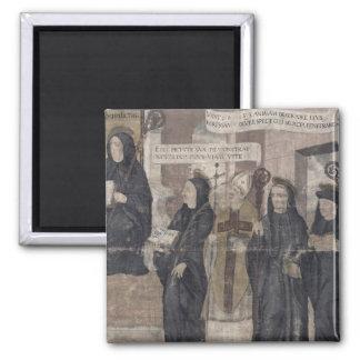 Saint Robert and various Benedictine Square Magnet