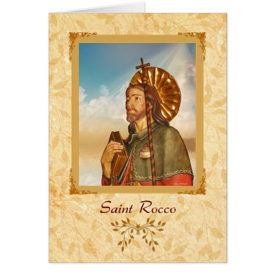 Saint Rocco - Happy Feast Day Greeting Card