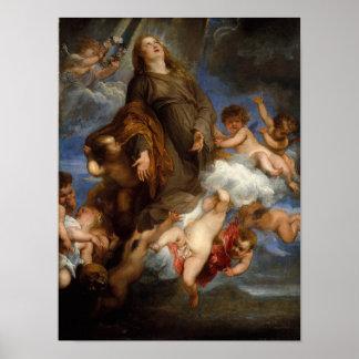 Saint Rosalie Interceding for the Plague-stricken Poster