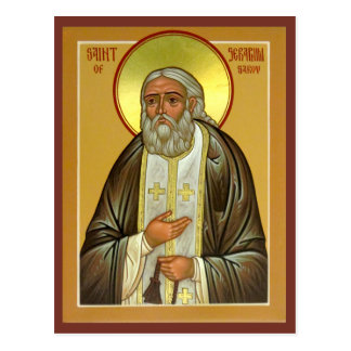 Saint Seraphim of Sarov Prayer Card Postcard