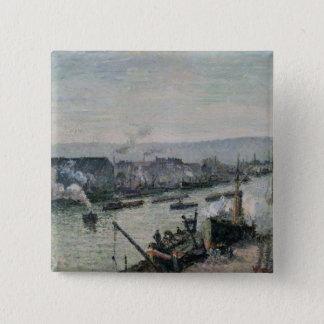 Saint-Sever Port, Rouen, 1896 15 Cm Square Badge