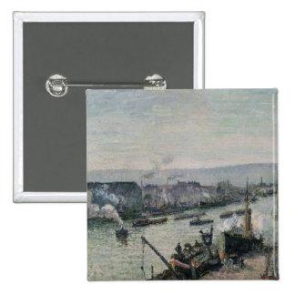 Saint-Sever Port, Rouen, 1896 Pinback Buttons