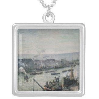 Saint-Sever Port, Rouen, 1896 Silver Plated Necklace