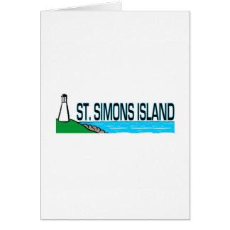 Saint Simons Island, Georgia Greeting Card