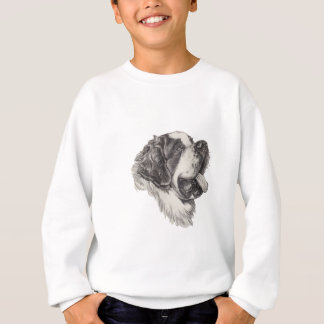 Saint St. Bernard Dog Profile Portrait Drawing Sweatshirt