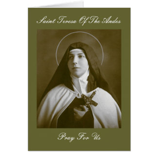 SAINT TERESA OF THE ANDES GREETING CARD