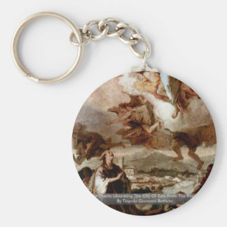 Saint Thecla Liberating The City Of Este Keychains