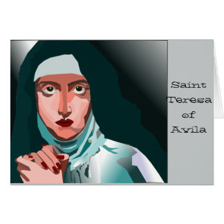 Saint Theresa Greeting Card