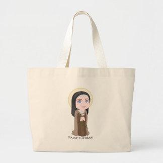 Saint Therese Large Tote Bag