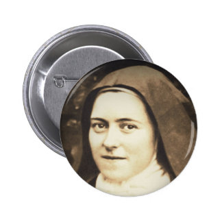 SAINT THERESE OF LISIEUX 6 CM ROUND BADGE