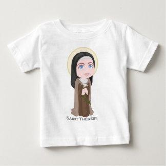 Saint Therese of Lisieux Cute Catholic Baby T-Shirt