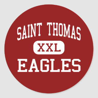 Saint Thomas - Eagles - High - Houston Texas Classic Round Sticker