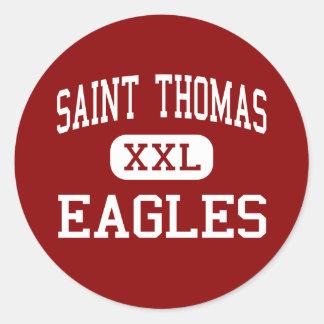 Saint Thomas - Eagles - High - Houston Texas Round Sticker