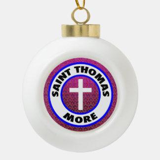 Saint Thomas More Ceramic Ball Christmas Ornament