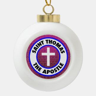 Saint Thomas the Apostle Ceramic Ball Christmas Ornament