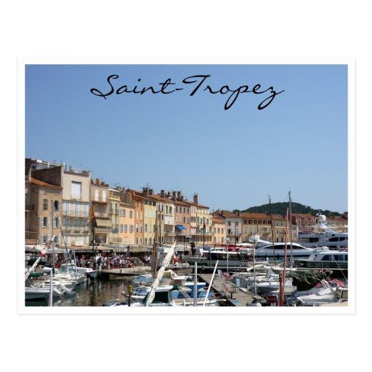 saint tropez boats postcard