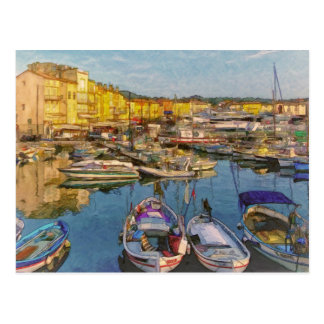 Saint Tropez  France Postcard