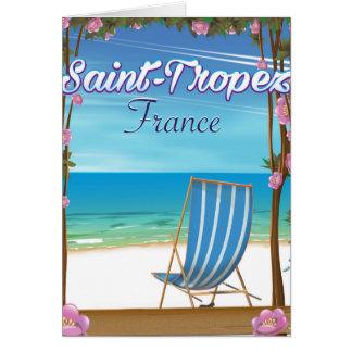 Saint-Tropez France Travel poster Card