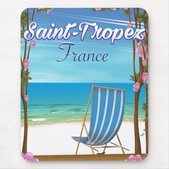Saint-Tropez France Travel poster Mouse Mat