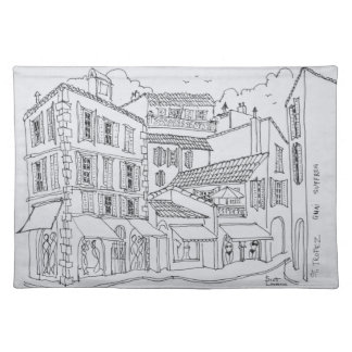 Saint-Tropez Shopping | French Riviera, France Placemat