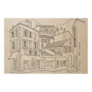 Saint-Tropez Shopping | French Riviera, France Wood Print