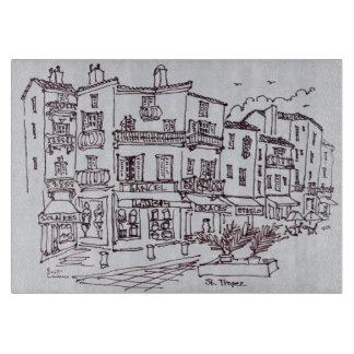 Saint-Tropez Shops   French Riviera, France Cutting Board