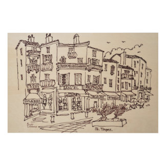 Saint-Tropez Shops | French Riviera, France Wood Wall Art