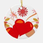 saint-valentin décorations pour sapins de noël
