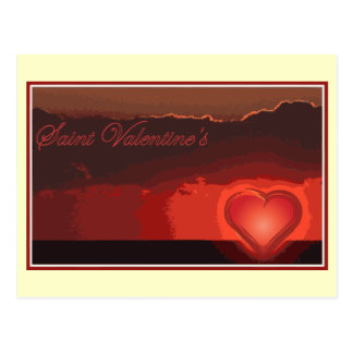 Saint Valentine s day for your boy girl friend Postcard
