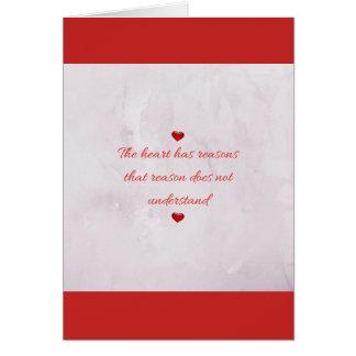Saint Valentine's Day dedication of love Card