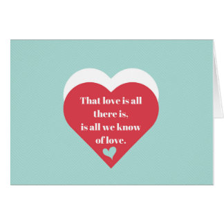 Saint Valentine's Day dedication of love Card