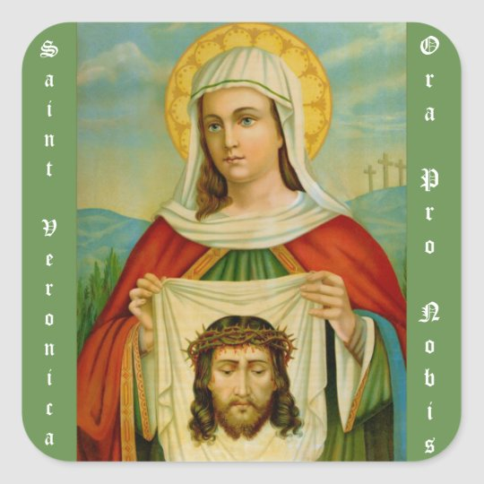 Saint Veronica Feast Day July 12 Square Sticker