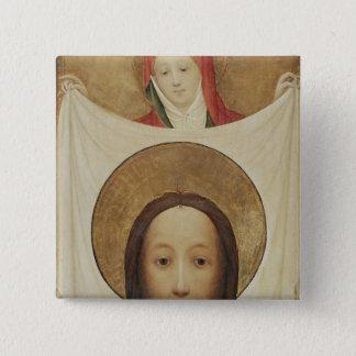 Saint Veronica with the Sudarium, c.1420 15 Cm Square Badge