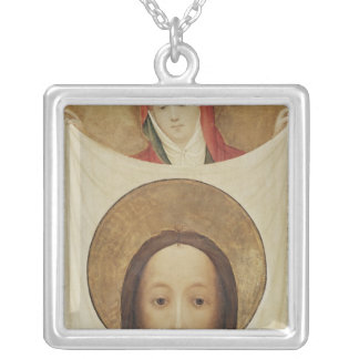 Saint Veronica with the Sudarium, c.1420 Silver Plated Necklace